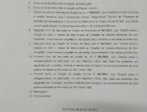 Pauta da 4 reunião ordinária da Câmara Municipal de Sem Peixe